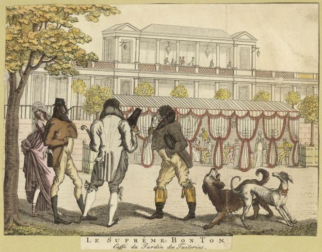 Au jardin des Tuileries, à la fin des années 1790.