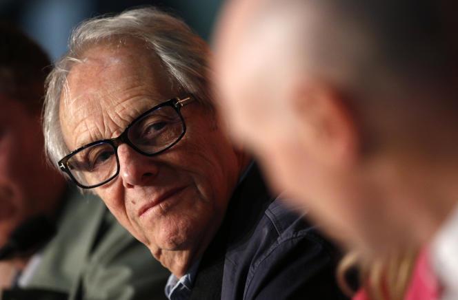 Le réalisateur Ken Loach au Festival de Cannes, durant la conférence de presse à propos du film« Sorry We Missed You», le 17 mai 2019.