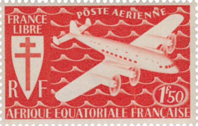 Timbre de poste aérienne de la France libre.