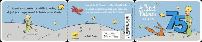 Couverture du carnet du 75e anniversaire de la parution, en France, du« Petit Prince».