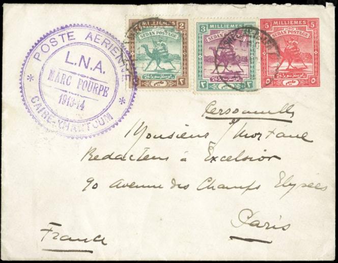 Prix réalisé: 2400 dollars lors de la vente aux enchères Cherrystone en septembre 2020. Courrier revêtu du fameux cachet LNA. Lettre arrivée à Paris le 17 janvier 1914.