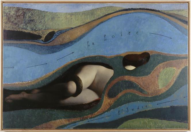 «Le jardin de la France», de Max Ernst (1962). Tableau peint sur celui deMichel Richard-Putz intitulé« Salambô» (1898).