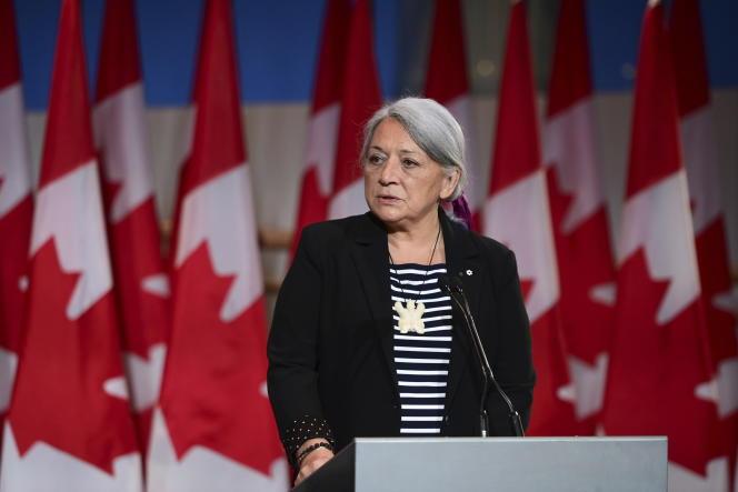 «Je peux dire avec confiance que ma nomination est un moment historique et inspirant pour le Canada, et un pas important vers le long chemin de la réconciliation », a déclaré Mary Simon, mardi 6 juillet.
