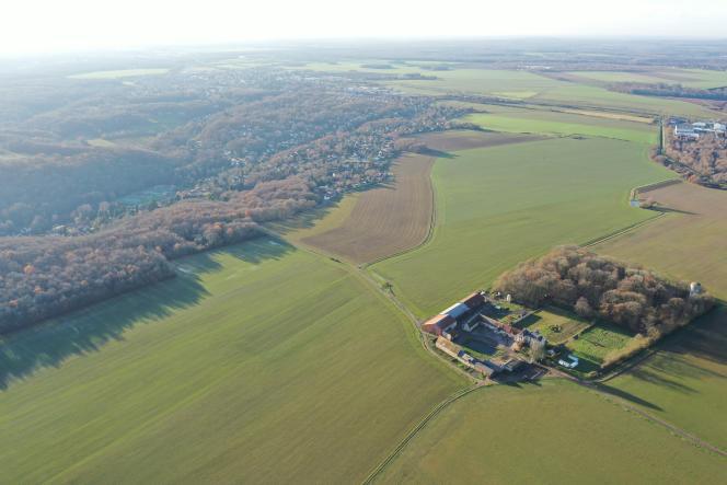 Vue aérienne du domaine de la Boissière, àLévis-Saint-Nom, dans les Yvelines.