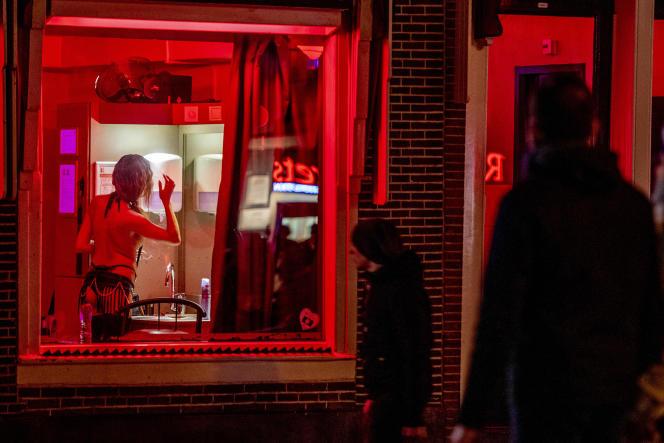 Le quartier rouge à Amsterdam, le 28 janvier 2019.