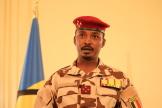 Le général Mahamat Idriss Deby au palais présidentiel à N'Djamena, le 27 avril 2021.