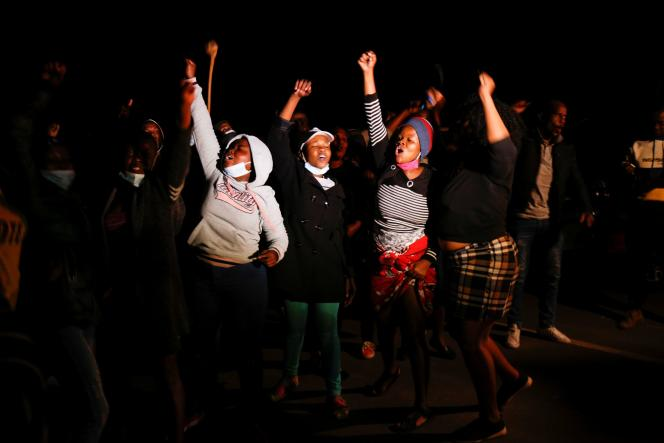 Supporters of Jacob Zuma gathered outside his home in Nkandla, South Africa, on Wednesday, July 7.