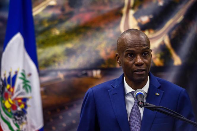 Le président d'Haïti, Jovenel Moïse, lors d'une conférence de presse à Port-au-Prince, le 7 janvier 2020.
