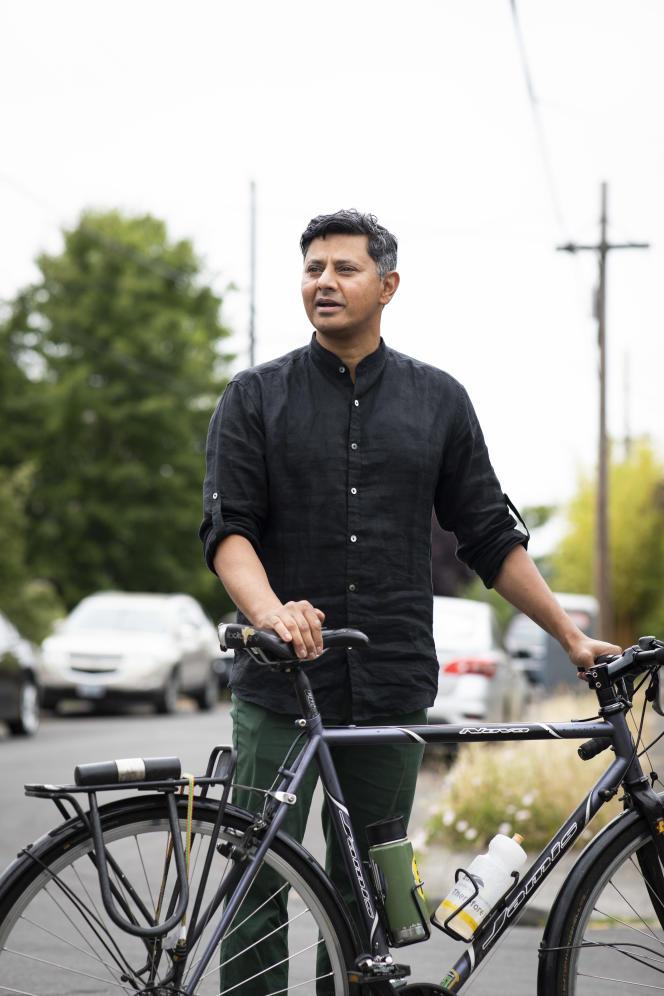 Vivek Shandas, professeur à l'université de Portland (Oregon), le 6 juillet 2021 à Portland.