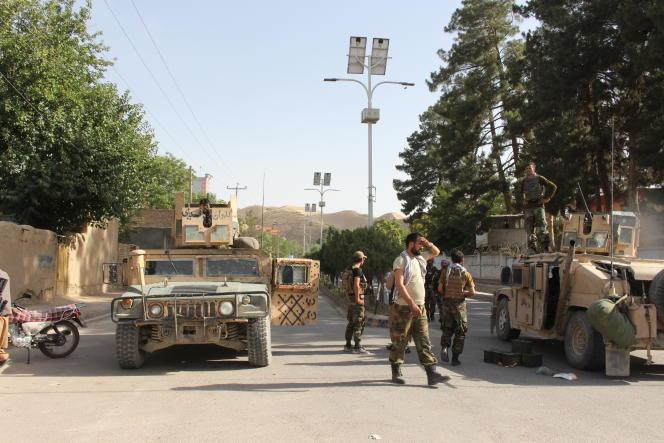 Kendaraan Tentara Afghanistan di Provinsi Badghis, 7 Juli 2021.