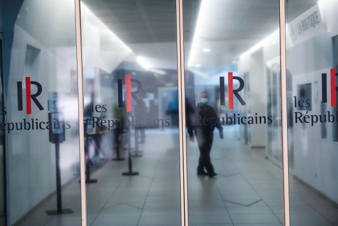At the headquarters of the party Les Républicains, July 6, 2021, in Paris.