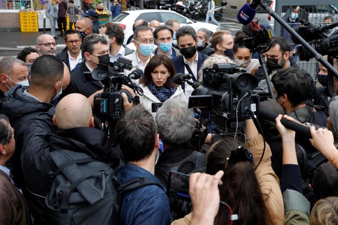 La maire de Paris, Anne Hidalgo, dans le 18e arrondissement, le 30juin 2021.