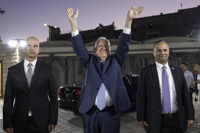 Le président israélien sortant, Réouven Rivlin, alors qu'il quitte la résidence présidentielle à Jérusalem, le 7 juillet 2021.