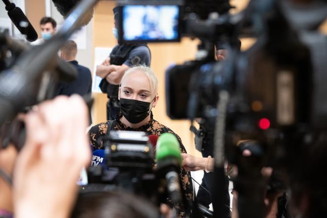 Mila au tribunal judiciaire de Paris, mercredi 7 juillet 2021.