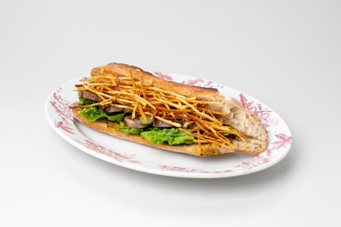 Sandwich à la langue sauce piquante.