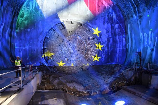 Le chantier du tunnel du Lyon-Turin, à Saint-André (Savoie), en septembre 2019.