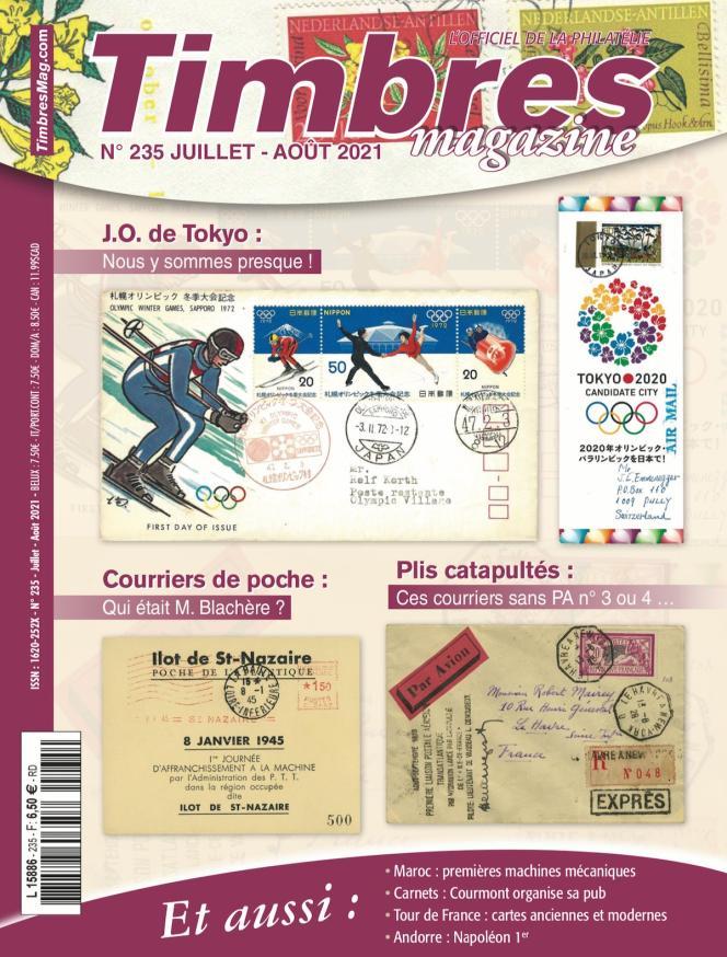 « Timbres magazine », juillet-août 2021, n° 235, 108 pages, 6,50 euros. En vente en kiosque, ou par correspondance (2, rue de l'Etoile, CS 79013, 80094 Amiens Cedex 3. Tél. : 03-22-71-71-87.
