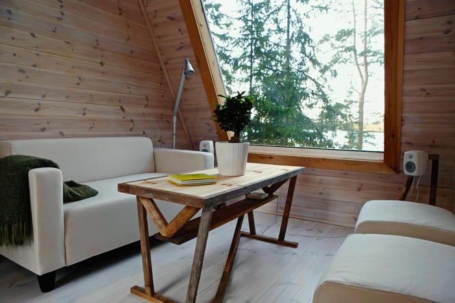 L'intérieur du cabanon conçu parRobin Falck en 2011.