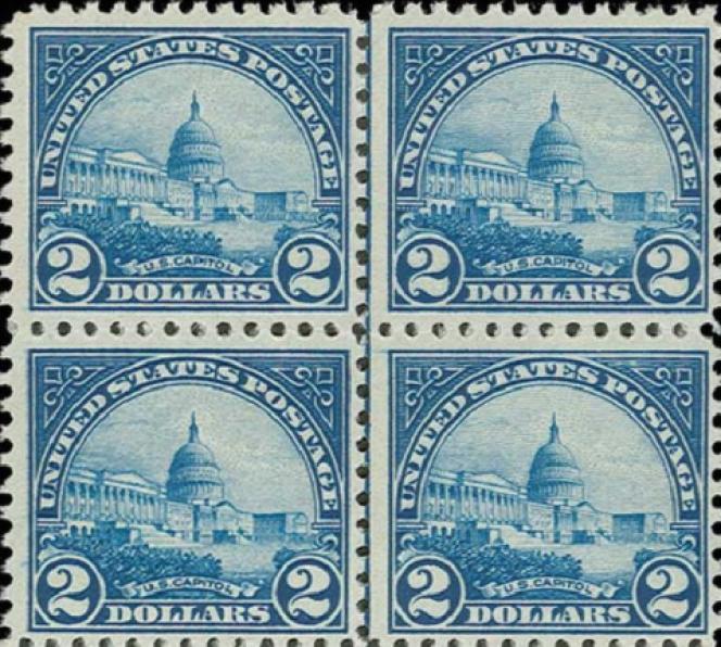 Timbre américain représentant le Capitole.