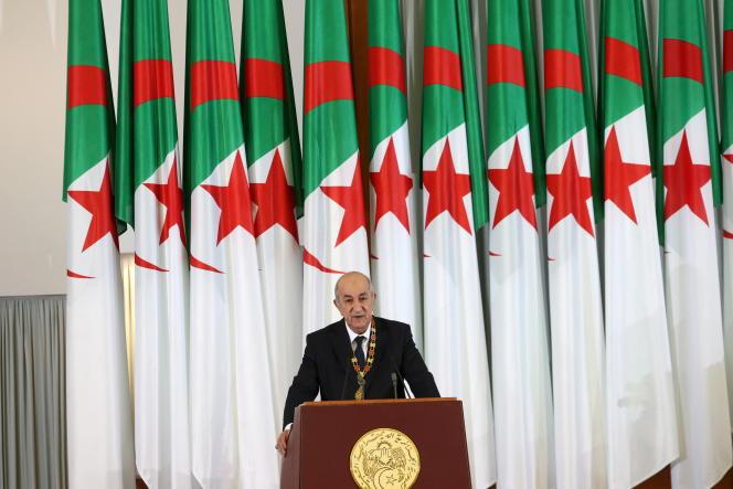 Le président algérien,Abdelmadjid Tebboune, à Alger, le 19décembre 2019.