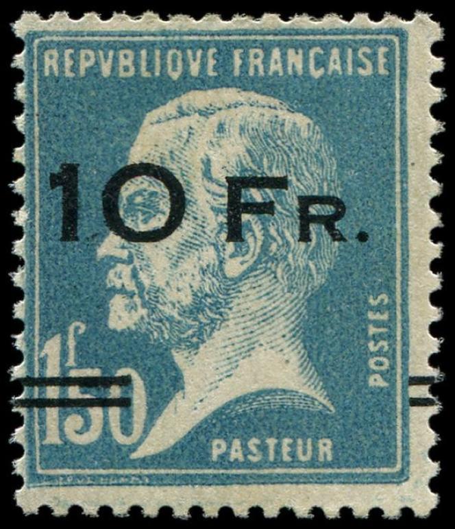 Timbre au type« Pasteur» surchargé pour être utilisé sur l'« Ile-de-France» en 1928.