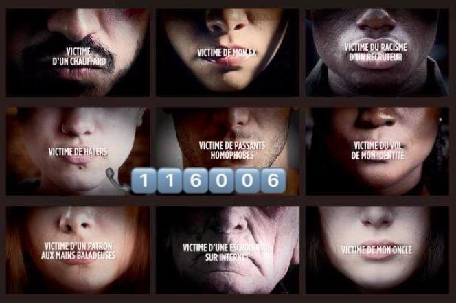 Capture d'un visuel visant à promouvoir le numéro d'appel gratuit destiné aux victimes, le 116 006.