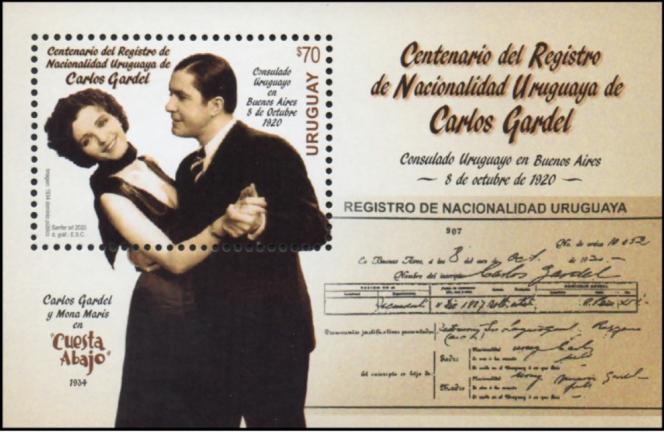 Bloc émis en 2020 par l'Uruguay.