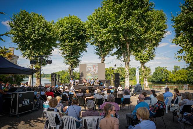 Au festival de Couthures-sur-Garonne (Lot-et-Garonne), vendredi 9 juillet 2021.