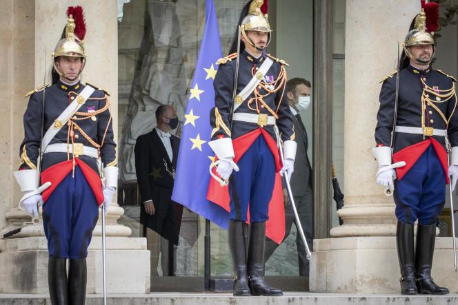 Emmanuel Macron au palais de l'Elysée à Paris, le 9 juillet 2021.