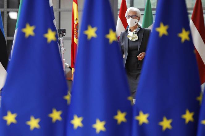 La présidente de la BCE, Christine Lagarde, à Bruxelles, le 25 juin 2021.