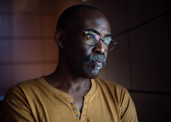 Le réalisateur Mahamat-Saleh Haroun, réalisateur de «Lingui, les liens sacrés», le 8 juillet chez Unifrance à Cannes.