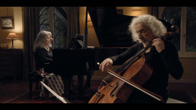 «Concert privé chez Martha Argerich», avec la pianiste argentineet le violoncelliste Mischa Maisky, en 2020.