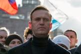 Alexeï Navalny lors d'une manifestation, le 29 février 2020 à Moscou.