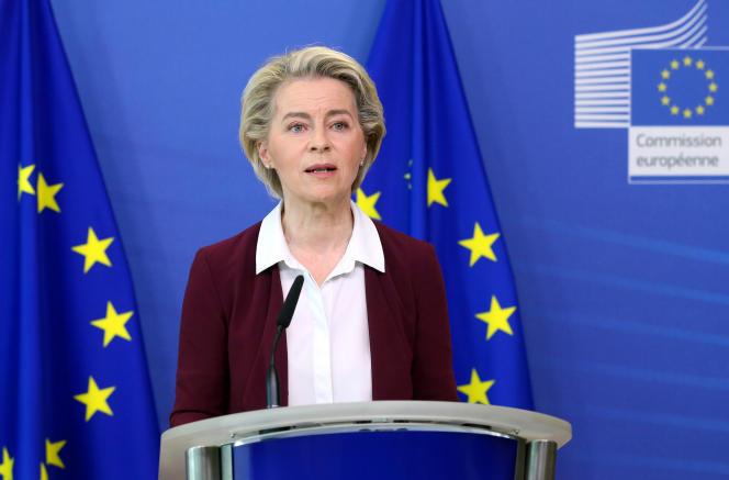 La présidente de la Commission européenne, Ursula von der Leyen, à Bruxelles, le 10juillet 2021.