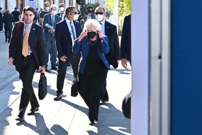 La secrétaire du Trésor américain, Janet Yellen, lors du G20 à Venise, le 9 juillet 2021.