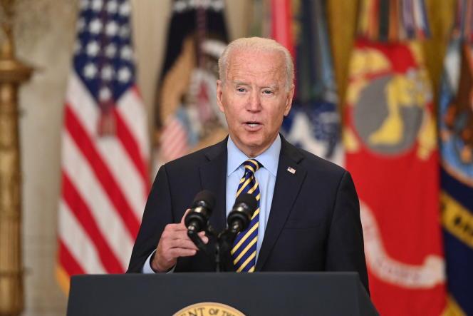 Joe Biden à la Maison Blanche, le 8 juillet 2021.