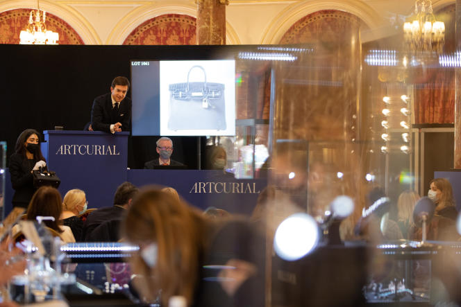 Une vente à l'Hôtel Hermitage à Monaco, en janvier 2021.