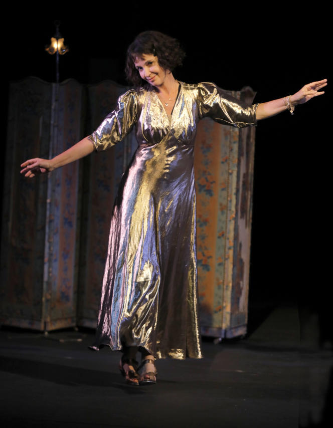 Zabou Breitman dans son seule-en-scène «Dorothy», au Théâtre du Chêne noir, à Avignon, en juillet 2021.