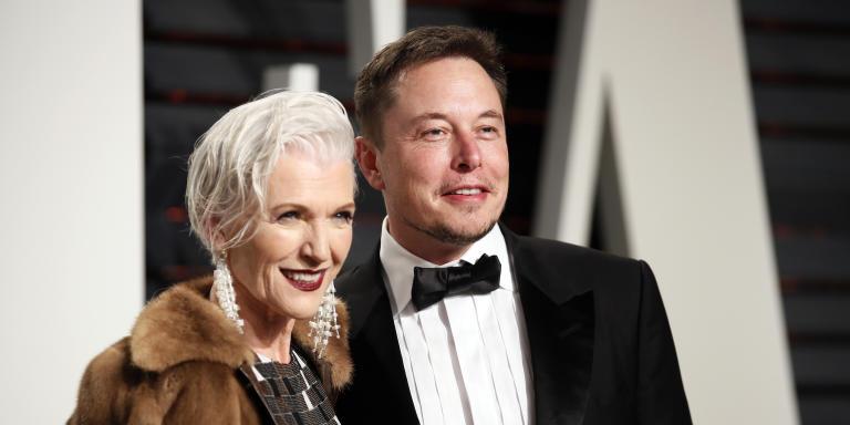 89th Academy Awards - Oscars Vanity Fair Party - Beverly Hills, California, U.S. - 26/02/17 – Elon Musk and his mother Maye Musk. REUTERS/Danny Moloshok