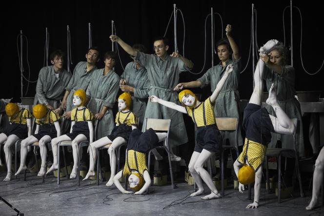 Une représentation de «Pinocchio(live)#2», par Alice Laloy, le 7 juillet 2021, au Festival d'Avignon.
