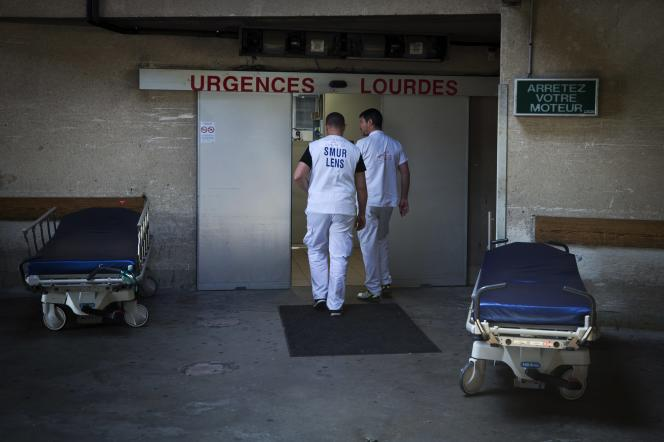 Les urgences du centre hospitalier de Lens (Pas-de-Calais), le 27 juin 2019.