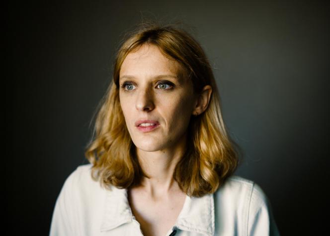 La réalisatrice Mia Hansen-Love, le 11 juilletau Palais des Festivals, à Cannes.