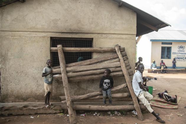 Déplacés de la ville de Lata arrivés au mois de mars. Yei, Soudan du Sud, le 2 juillet 2021.