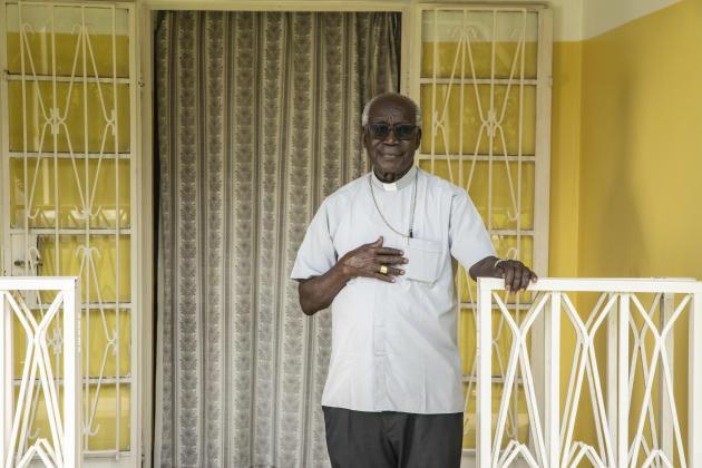 L'évêque Erkolano Lodu Tombe,à Yei, le 5 juillet 2021.
