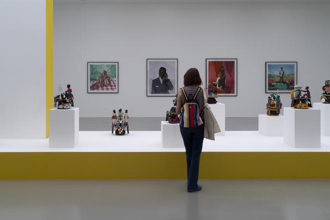 Vue de l'exposition «Cosmogonie.Zinsou, une collection africaine» au Mo.Co Hôtel des Collections, à Montpellier, le 2 juillet 2021.