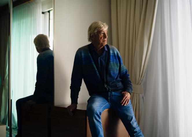 Le réalisateur Paul Verhoeven, le 8 juillet 2021, à l'hôtel JW Marriott à Cannes.