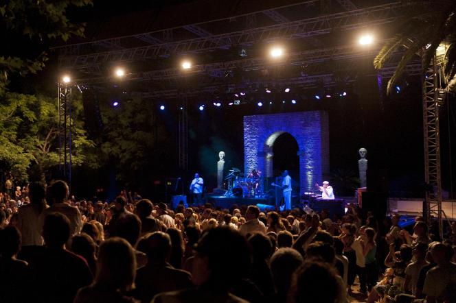 Un concert de Lucky Peterson, le 23 juillet 2009, lors des 20es Nuits de la guitare de Patrimonio (Haute-Corse).
