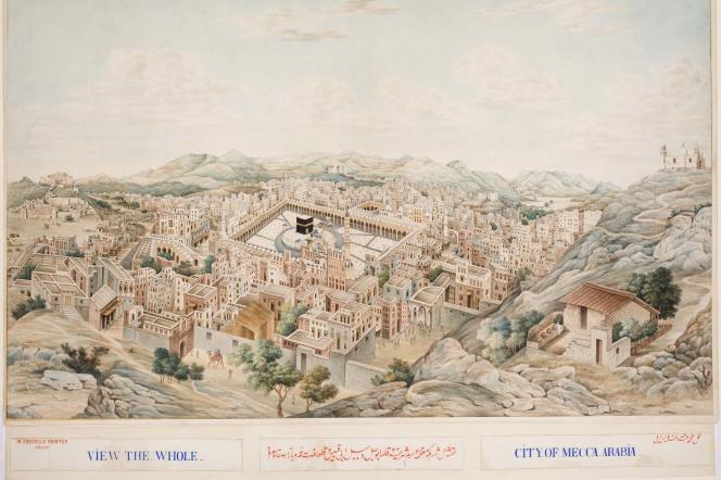 Panorama de La Mecque, 1845. Collection Khalili.