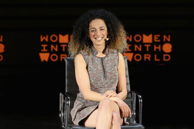 La journaliste Masih Alinejadlors du 7e sommet annuel de «Women in the World»à New York, le 7 avril 2016.