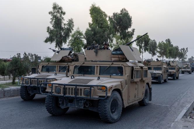 کاروان نیروهای ویژه افغان در استان قندهار ، افغانستان ، 13 ژوئیه 2021.
